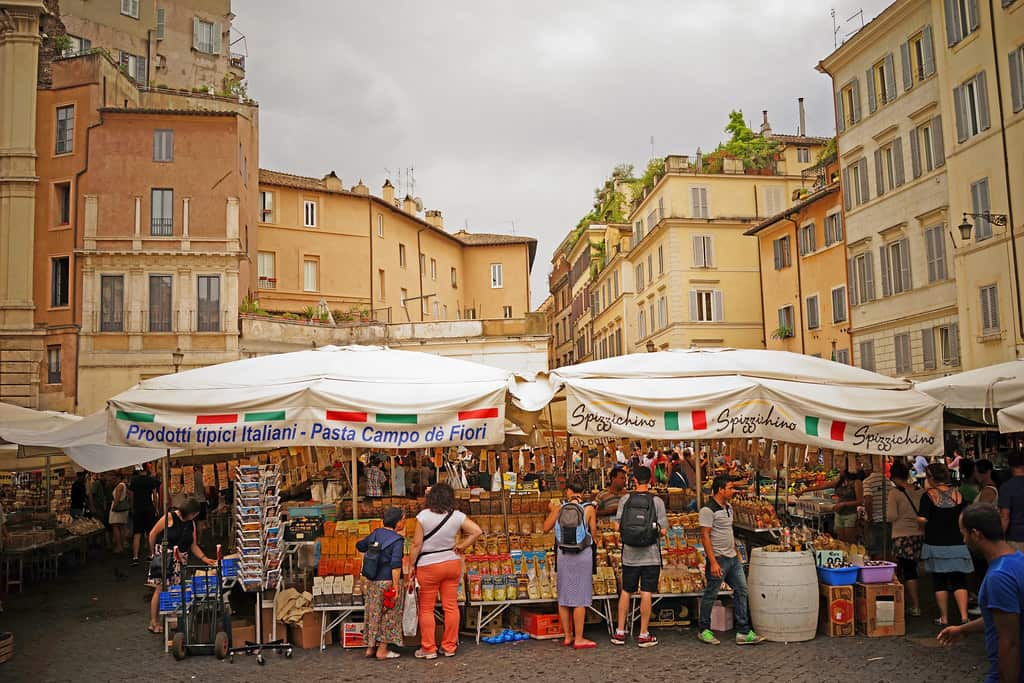 Marché de campo di fiori à Rome