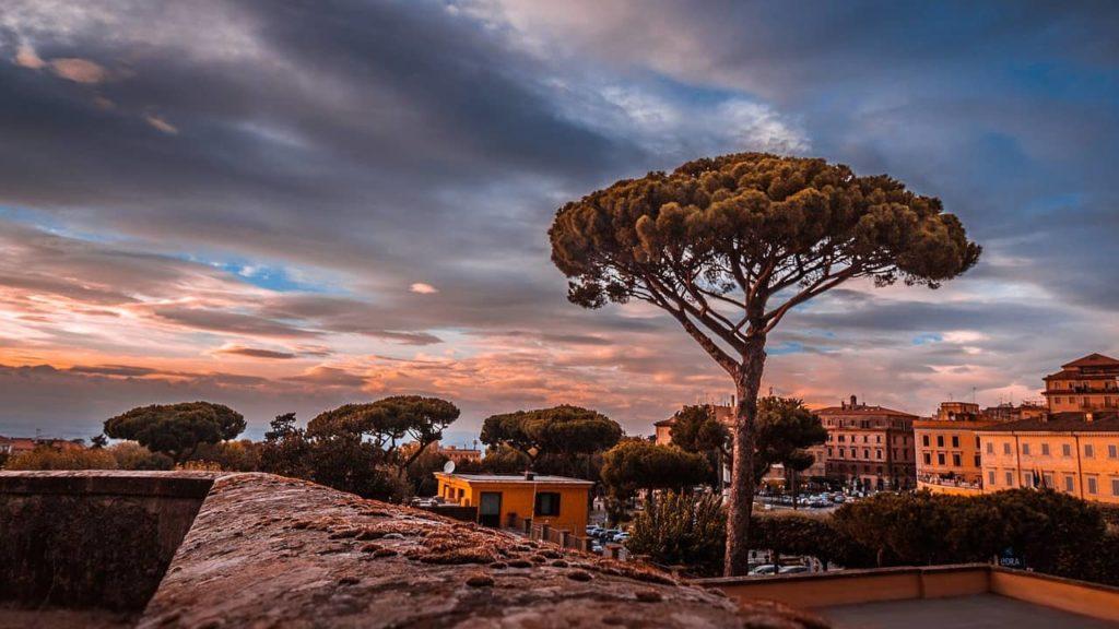 Le village Frascati aux alentours de Rome