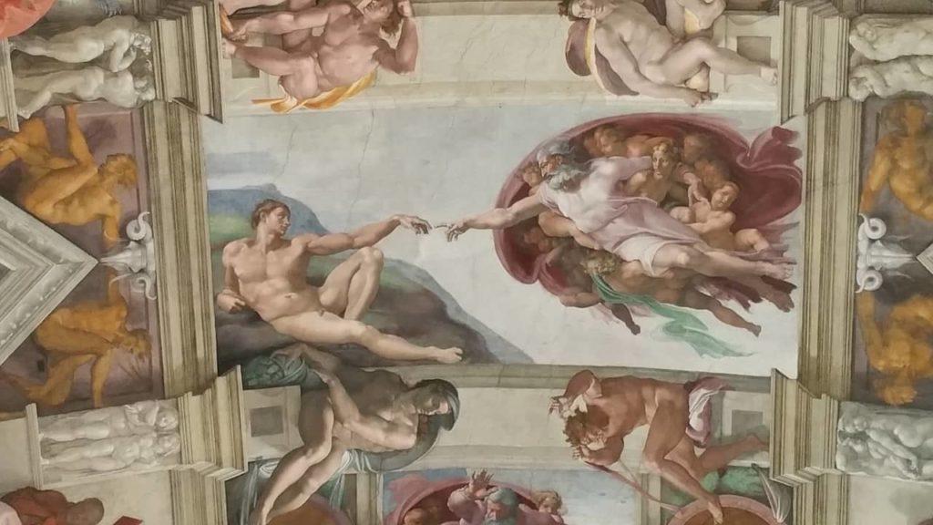 Plafond de la Chapelle Sixtine par Michel-Ange au Vatican