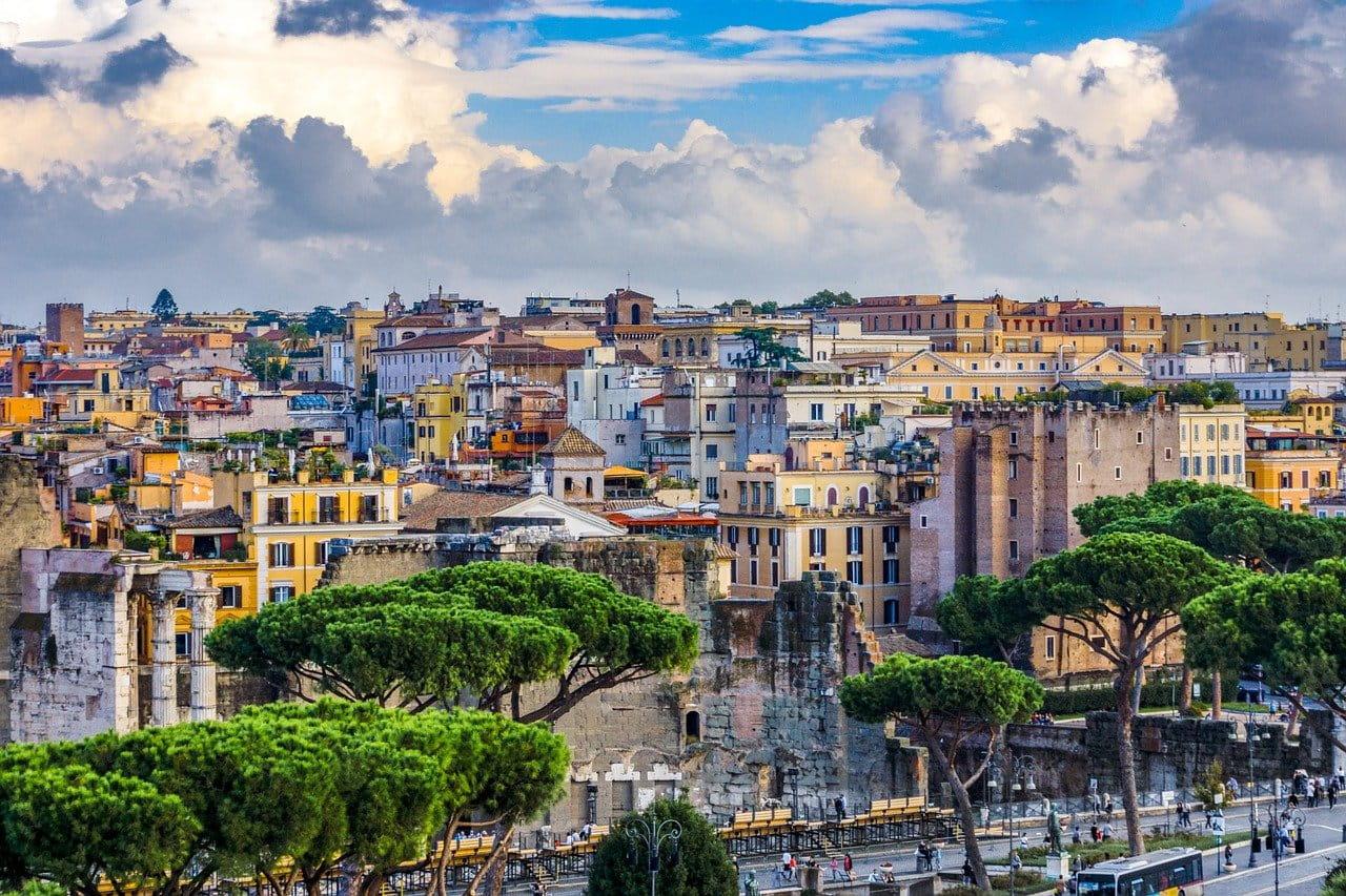 Vue sur la ville de Rome