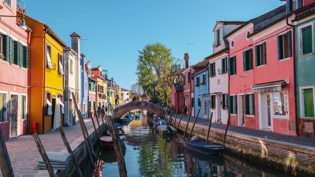 L'île de Burano proche de Venise