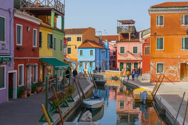 L'île de Burano près de Venise à visiter en famille
