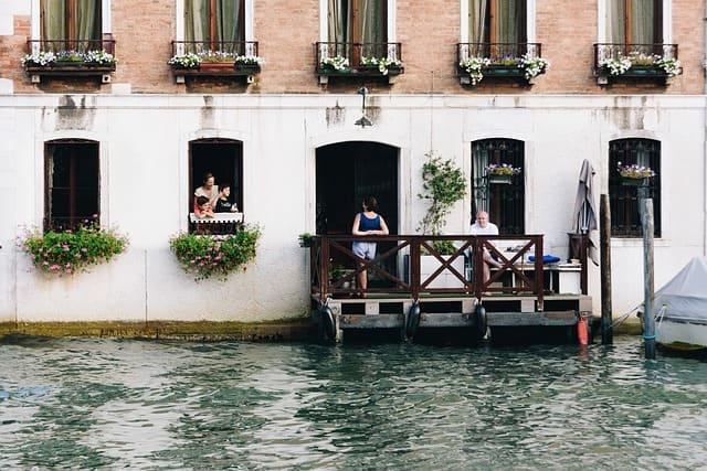 Famille à Venise