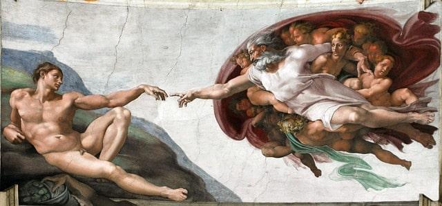 La magnifique fresque peinte par Michel-Ange au plafond de la Chapelle Sixtine