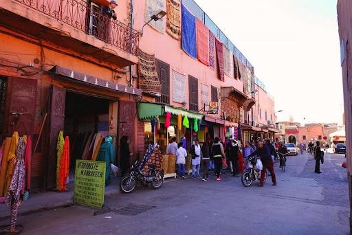 Rue de Mellah à Marrakech